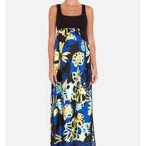 Olian Empire Waist Maternity Maxi Dress